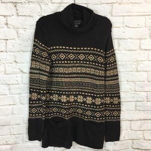 Fenn Wright Manson Cowl Neck Brown Sweater Medium